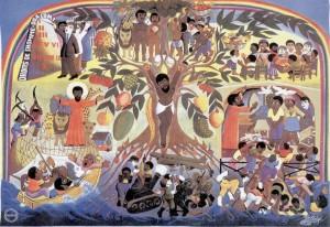 Scènes bibliques par Jacques Chéry, peintre haïtien.