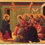 Jésus dit au revoir à ses apôtres. La Maestà par Duccio (1308-1311)