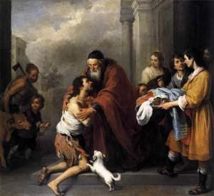 Le retour de l'enfant prodigue. Bartolomé Esteban Murillo (1615-1688)