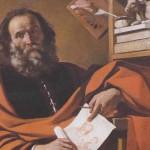 Saint Luc. Il Guercino (1591-1666)