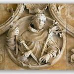 Saint Dominique. Détail dans le couvent de Salamanque.