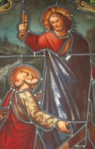 St Pierre recevant les clefs
