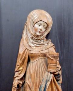 Statua raffigurante santa Marta. Sorella di Lazzaro Patrono di Casalinghe, domestiche, albergatori, osti, cuochi, cognate