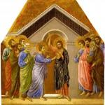 L'incrédulité de saint Thomas. Duccio di Buoninsegna (1260-1318)
