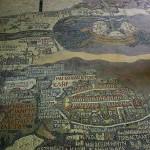 Carte de Madaba (VIe siècle) : navire sur la mer Morte