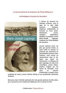 Journal spirituel du Père Lagrange
