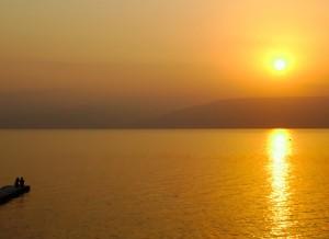 Lever de soleil sur le lac de Tibériade