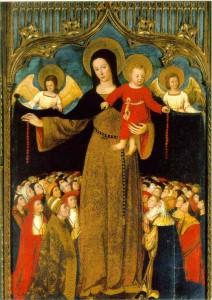 La Vierge du Rosaire. Louis Brea (1450-1525), église Ste Marie-Madeleine, Biot (Alpes-Maritimes)