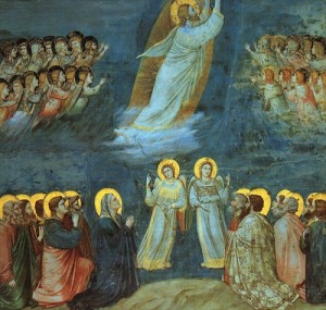 Ascension. Giotto du Bondone (XIV. Fresque