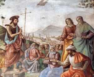 Saint Jean Baptiste prêchant. Ghirlandaio XVe. Chapelle Tornabuoni. Sta Maria Novella. Florence