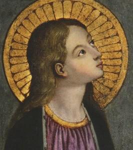 Vierge Marie (détail), attribuée à Luca Signorelli (1450-1524), basilique de la Ste-Annonciation, Florence