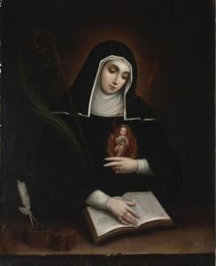 Sainte Gertrude d'Helfta par Miguel Cabrera (1763)