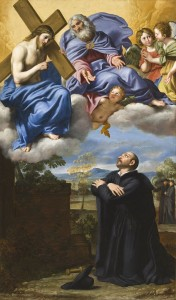 Saint Ignatius_of_Loyola's_Vision_of_Christ_and_God_the_Father_at_La_Storta_Le Dominiquin(1581-1641)