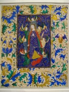 Assomption de la Vierge Marie. Enluminure 1450-1475. Cluny