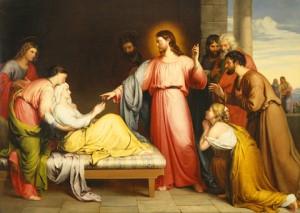 Christ guérissant la belle-mère de Pierre John Bridges (1818-1854)