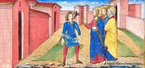 Guérison d'un possédé-Miniature tratte dal Leggendario Sforza-Savoia(Milano, 1476), Biblioteca Reale, Torino