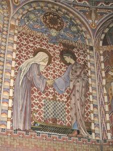 Sainte Monique et saint Augustin Uppenbarelsekyrkan, kor, Suède