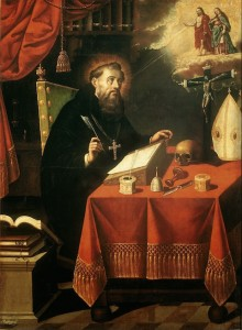Saint Augustin par Antonio Rodriguez (1636-1691) Museo Nacional de Arte. Mexico City.