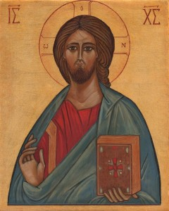 Christ Icône Bénédictines du Mont des Oliviers. Jérusalem