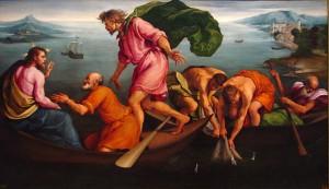 La pêche miraculeuse.  Jacopo Bassano (1545)