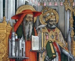 Saint Jérôme et saint Grégoire le Grand par Antonio Vivarini (15e)