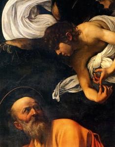 Saint Matthieu et l'ange (détail) Caravaggio, Rome, Saint-Louis-des-Français