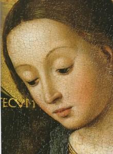 Vierge Marie (détail, Louis Brea, 1499)