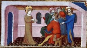 jesus et les pharisiens. Herman de Valenciennes, 14e_10