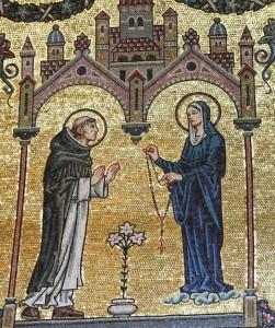 St-Dominique recevant le rosaire