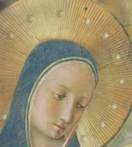 Marie, Première Église. Fra Angelico (détail)