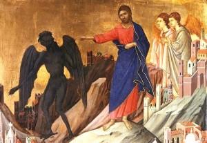 Tentation de Jésus Duccio (1308-11)