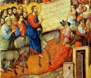 Entrée de Jésus à Jérusalem Duccio