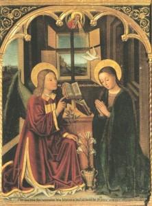 Annonciation du Seigneur Louis Brea (1499) église de Lieuche (Alpes-Maritimes)