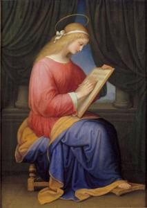 Marie écrivant le Magnificat Maria Ellenrieder (1833)