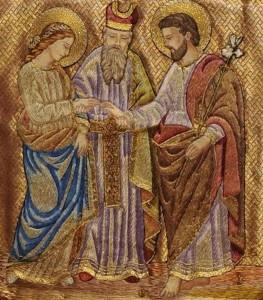 Épousailles de Marie et Joseph (Dos chasuble, basilique de Marienthal)