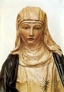 Sainte Catherine de Sienne Sculpture (détail) de Neroccio di Bartolomeo (1475)