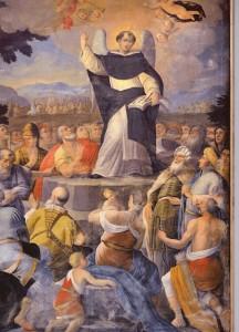 Saint Vincent Ferrier prêche à la foule. Saverio De Musso (1734)