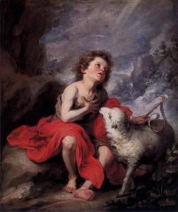 Saint Jean Baptiste enfant Bartolomé Esteban Murillo (1665)
