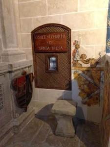 Confessional de Ste Thérèse d'Avila