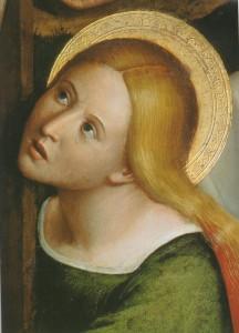 Ste Marie Madeleine, (détail), Louis Brea, 1512