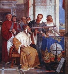 Galileo Galilei et le Doge de Venise Fresque de Giuseppe Bertini (1858)