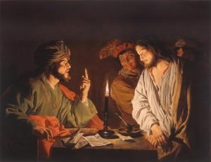 Jésus devant le grand prêtre Matthias Stom (1633)