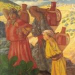 Femmes kabyles revenant de la fontaine 1910. Musée de Brou. Bourg-en-Bresse