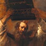 Moïse et les Dix Commandements (détail) Rembrandt. 1658.