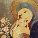 Marie, Vierge de tendresse. Icône de Mireille Félix