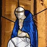 Saint Dominique (détail, vitrail Paul Challan Belval)