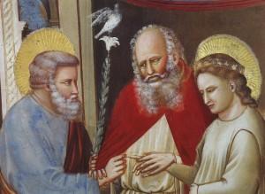 Giotto (détail fresque 1303-1306). Chapelle Scrovegni. Padoue.