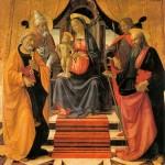 Commémoration de S. Paul et S. Pierre. S.Clemente et Sebastiano D. Ghirlandaio 15e.Madonna con bambino.Duomo San Martino.Lucca.Italie
