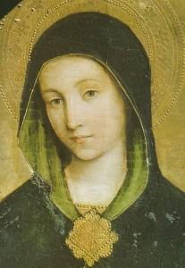 Le visage de Marie (détail) J. Miralhet (1430)