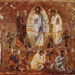 Transfiguration du Seigneur Icône du 12e siècle. Monastère Ste-Catherine du Sinaï.